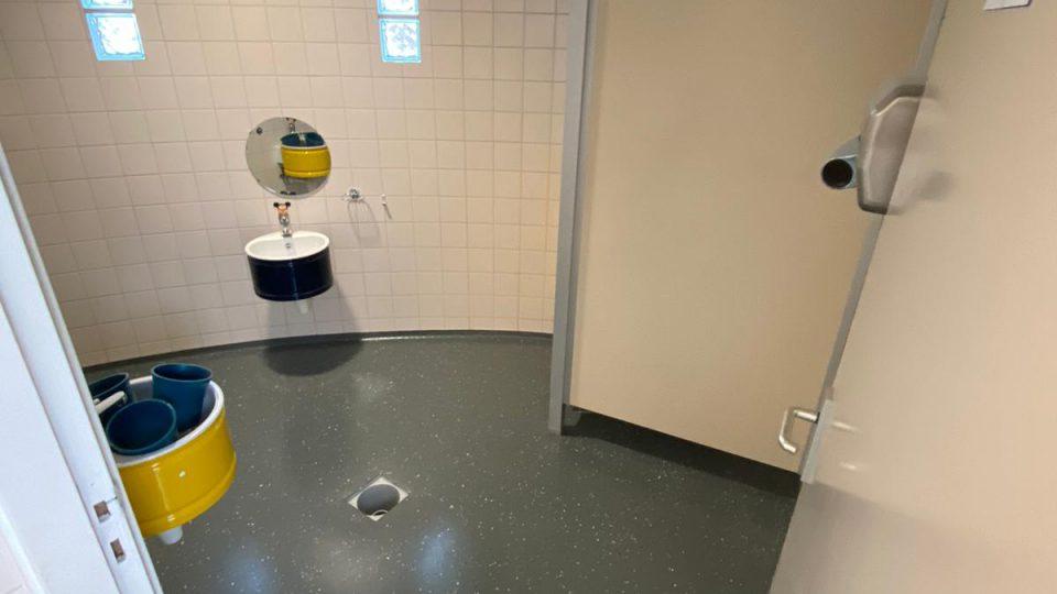 vloer in sanitaire ruimte